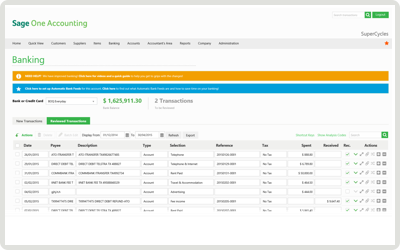 Sage One Online Accounting - Bank Feeds